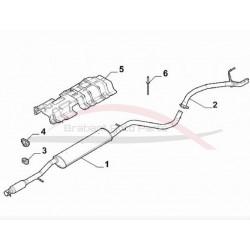 Fiat 500 uitlaat einddemper