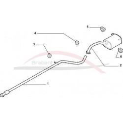 Fiat 500 uitlaat middenpijp