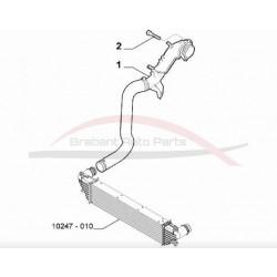Fiat 500 L benzine uitvoering intercoolerslang