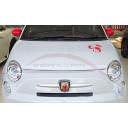 Fiat 500 motorkap sticker Abarth