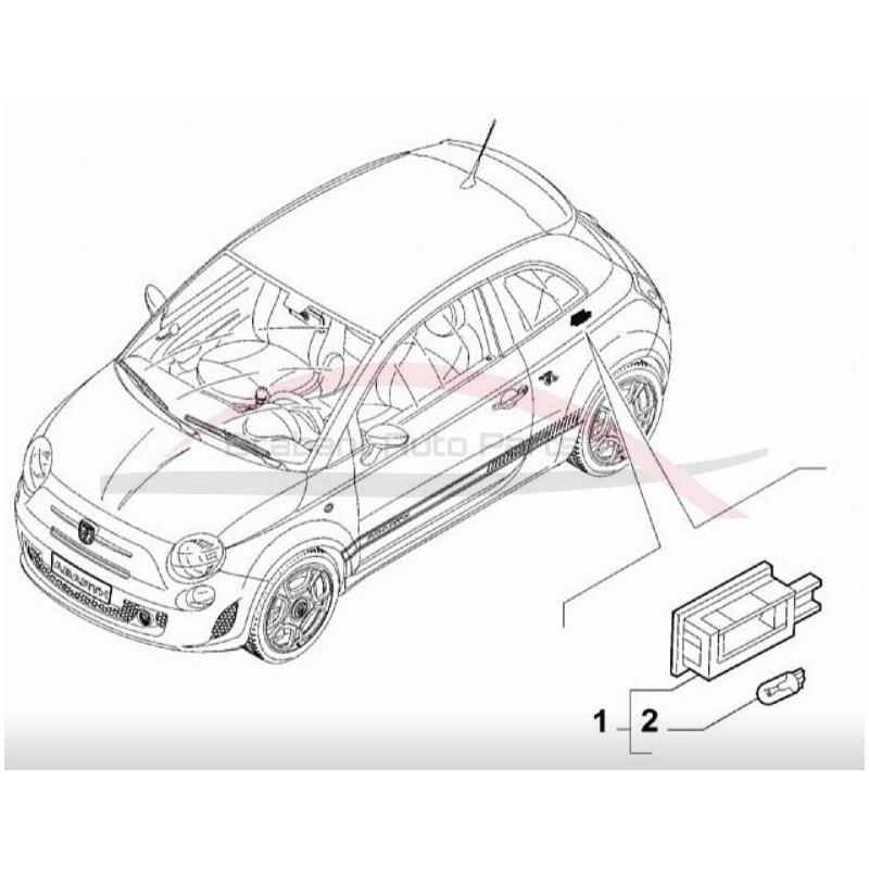 Fiat 500 vanaf 2007 kofferbakverlichting unit