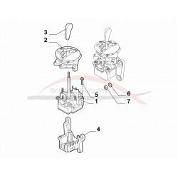 Fiat 500 2007-2012 dualogic versnellingspookknop