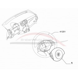 Fiat 500 1.4 16V Abarth airbag stuur