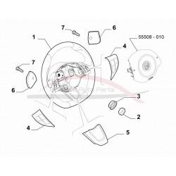 Fiat 500 Abarth 2008-2012 bedieningsknopjes stuurwiel