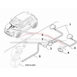 Fiat 500 slangenset 3 stuks t.b.v. ruitensproeierreservoir