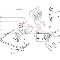 Fiat 500 2007-2012 met start stop schakelaar koppeling