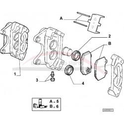 Alfa Brera 2.4 JTD 20V / 3.2 V6 remblokkenset vooras