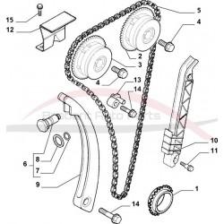 Alfa Brera 2.2 JTS distributie voorste tandwiel en versteller