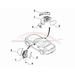 Fiat 124 Spider buitenspiegel