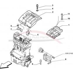 Fiat Stilo 2.4 20V Abarth afdekplaat motor bovenzijde