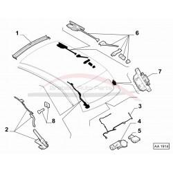 Fiat 500 cabrio beugel
