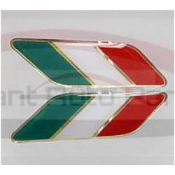 Tricolore sticker set