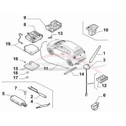 Alfa Romeo Mito met navigatie / GPS coaxkabel