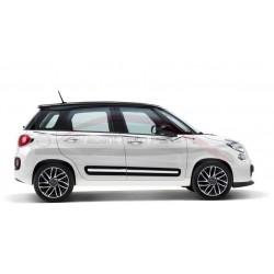 Fiat 500L raamlijststicker antraciet & zilver met 500-logo