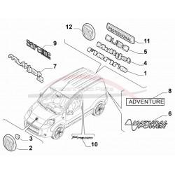 Fiat Cubo embleem Cubo