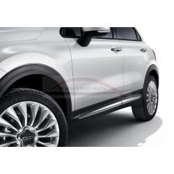 Fiat 500X deursierlijsten gepolijst chroom