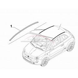 Fiat 500 met cabrio / open dak vanaf 2007, daklijst