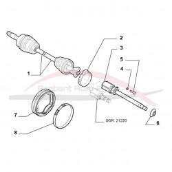 Fiat Grande Punto adapter t.b.v asdeel