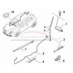 Alfa Giulietta antennevoet voor uitvoeringen MET GPS/ navigatie