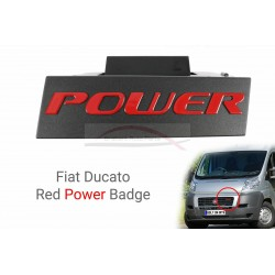 Fiat Ducato embleem Power t.b.v. de grille