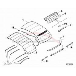 Fiat 500 cabrio spoiler beige t.b.v. remlicht