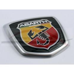 Fiat 500 Abarth embleem achterzijde mat chroom