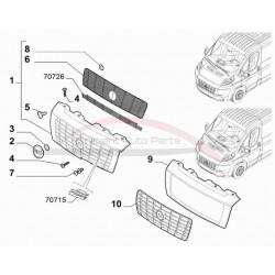 Fiat Ducato klemringetje / borgring origineel set 2 stuks
