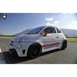 Fiat 500 Abarth stripingset