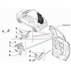 Fiat 500e deurvanger zijkant achterportier