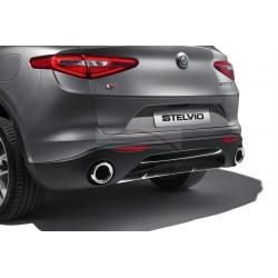 Alfa Romeo Stelvio deel achterbumper glanzend zwart
