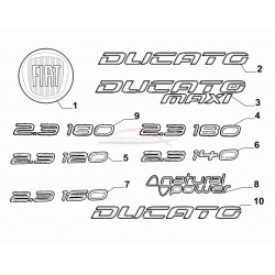 Fiat Ducato embleem 2.3 160