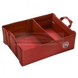 Bagagebox rood met Fiat logo