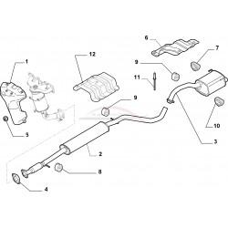 Fiat 500 1.2 8V /1.4 16V ophangrubbers set einddemper