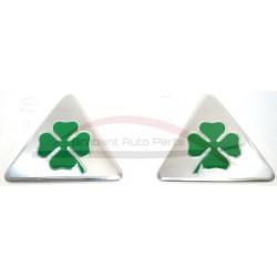 Alfa Romeo Quadrifoglio Verde embleem, set