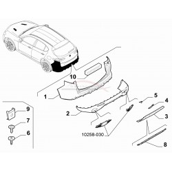 Alfa Romeo Stelvio 2.0/ 2.2 vanaf 2017 zonder dodehoekdetectie, achterbumper