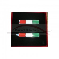 Alfa Romeo, tricolore badge set 2 stuks