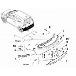 Alfa Mito 2008-2011 zonder parkeersensoren onderste bumperdeel zwart