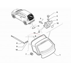 Alfa Romeo Mito, achterkleprubber