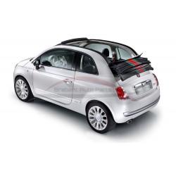 Fiat 500 Gucci chroomlijst in satin/ mat chrome achterbumper