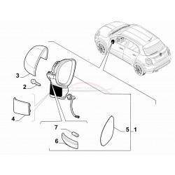 Fiat 500X buitenspiegel met elektrisch vouwmechanisme