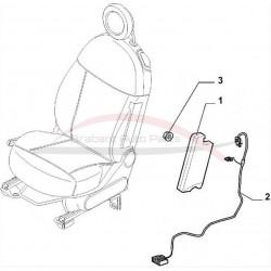 Fiat 500 stoel airbag passagierszijde