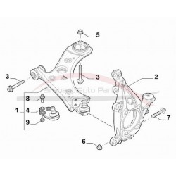 Fiat 500X 2WD fussekogel