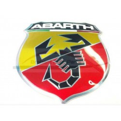 Fiat 500 Abarth embleem en houder