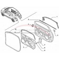 Fiat 500 profielrubber raamlijst