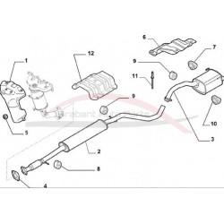Fiat 500 hitteschild spruitstuk